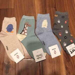 Bundle of cute, whimsical socks